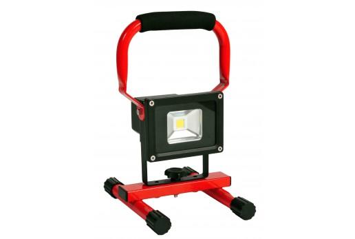 LED 10W arb.lampe batteri, på stativ