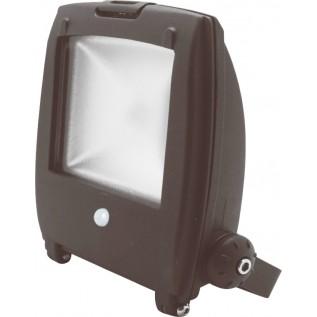 LED 10W Floodlight projektør m intgr. PIR