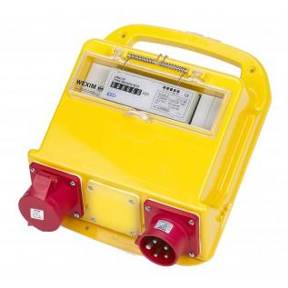 Bi-målertavle - 5P 400V 16A CEE ind/ud