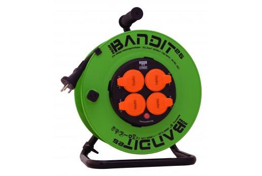 Kabeltromle Bandit m fast kerne 25m 3G1,5mm